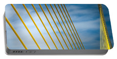 Portable Battery Charger featuring the photograph Golden Glow Of Tampa by Karen Wiles