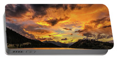 Golden Glow Sunset At Summit Cove Portable Battery Charger