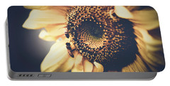 Portable Battery Charger featuring the photograph Golden Honey Bees And Sunflower by Sharon Mau