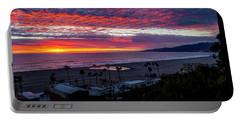 Golden Horizon At Sunset -  Panorama Portable Battery Charger