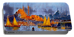 Portable Battery Charger featuring the digital art Golden Horn Of Istanbul by Pennie McCracken