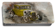 Portable Battery Charger featuring the photograph Golden Hot Rod by Joel Witmeyer