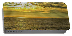 Golden Hour At Seal Beach Portable Battery Charger by Tom Kelly