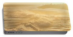 Golden Hour At The Wedge Portable Battery Charger