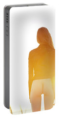 Golden Hour Girl Portable Battery Charger