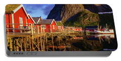 Golden Hour In Reine Portable Battery Charger