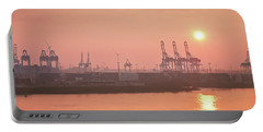 Golden Hour On The Elbe Portable Battery Charger