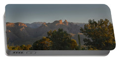 Portable Battery Charger featuring the photograph Golden Hour On Thimble Peak by Dan McManus