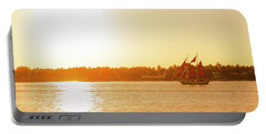 Golden Hour Sailing Ship Portable Battery Charger