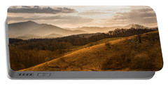 Grandfather Mountain Sunset - Moses Cone Blue Ridge Parkway Portable Battery Charger