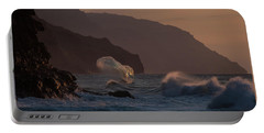 Golden Hour Wave Portable Battery Charger