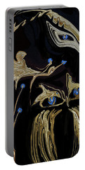 Golden Lady And The Owl Portable Battery Charger