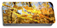Portable Battery Charger featuring the photograph Golden Leaves by Ivy Ho