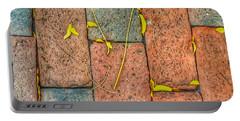 Golden Leaves On Boston Bricks Portable Battery Charger by Patricia E Sundik