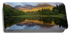 Golden Light At The Torren Lochan Portable Battery Charger