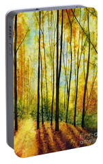 Portable Battery Charger featuring the painting Golden Light by Hailey E Herrera