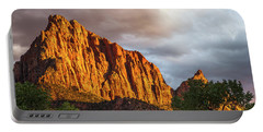 Golden Light On Watchman - Zion Portable Battery Charger