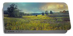 Golden Meadows Portable Battery Charger by John Rivera