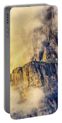 Portable Battery Charger featuring the photograph Golden Mist On Cathedral Mountain by Ronald Santini