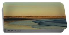Golden Morning On Rhode Island Coast Portable Battery Charger by Nancy De Flon
