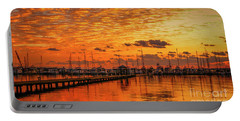 Golden Orange Sunrise Portable Battery Charger by Tom Claud