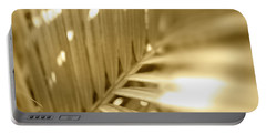 Golden Palm Frond Portable Battery Charger