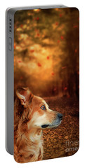 Golden Retriever Dreams Portable Battery Charger by Darren Fisher
