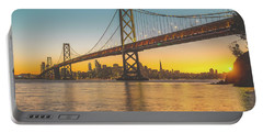 Golden San Francisco Portable Battery Charger by JR Photography