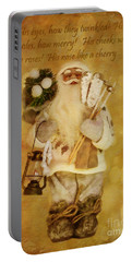 Golden Santa Card 2015 Portable Battery Charger