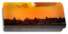 Golden Sky In Cancun Portable Battery Charger