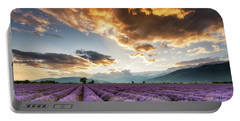 Golden Sky, Violet Earth Portable Battery Charger