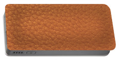 Portable Battery Charger featuring the painting Golden Sparkle Leather Look Background Texture On Gifts Christmas Holidays Birthday Mom Dad Sister  by Navin Joshi