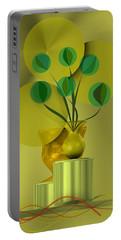 Golden Still Life Portable Battery Charger
