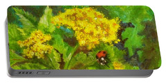Golden Summer Blooms Portable Battery Charger