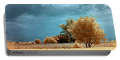Portable Battery Charger featuring the photograph Golden Summerscape by Helga Novelli