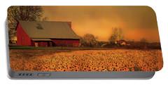 Golden Sunflower Harvest Portable Battery Charger
