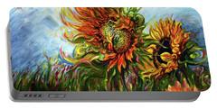 Golden Sunflowers - Harsh Malik Portable Battery Charger