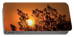 Golden Sunrise Portable Battery Charger by Angela J Wright