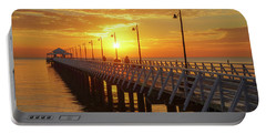 Golden Sunrise Down By The Bay Portable Battery Charger