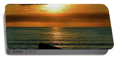 Portable Battery Charger featuring the photograph Golden Sunset At The Beach IIi by Mariola Bitner