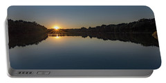 Portable Battery Charger featuring the photograph Golden Sunset by Charles Kraus