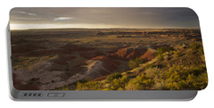 Portable Battery Charger featuring the photograph Golden Sunset Over The Painted Desert by Melany Sarafis
