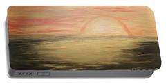 Golden Sunset Portable Battery Charger by Rachel Hannah