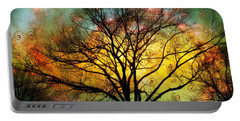 Golden Sunset Treescape Portable Battery Charger by Barbara Chichester