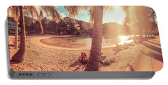 Golden Sunsets Of Airlie Beach Portable Battery Charger