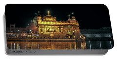 Golden Temple Punjab India Night With Reflection Portable Battery Charger