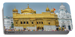 Golden Temple Punjab India With Clear Sky Portable Battery Charger