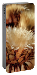 Portable Battery Charger featuring the digital art Golden Thistle II by Bill Gallagher