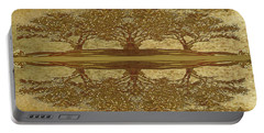 Golden Trees Reflection Portable Battery Charger