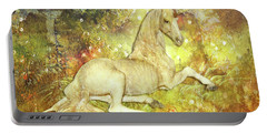Golden Unicorn Dreams Portable Battery Charger